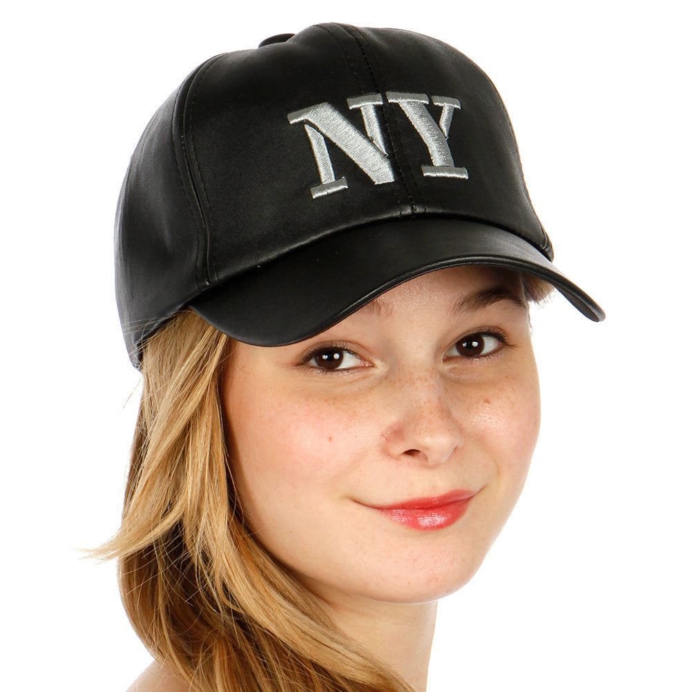 NY Leather Hat