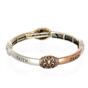 Engraved Faith Bracelet