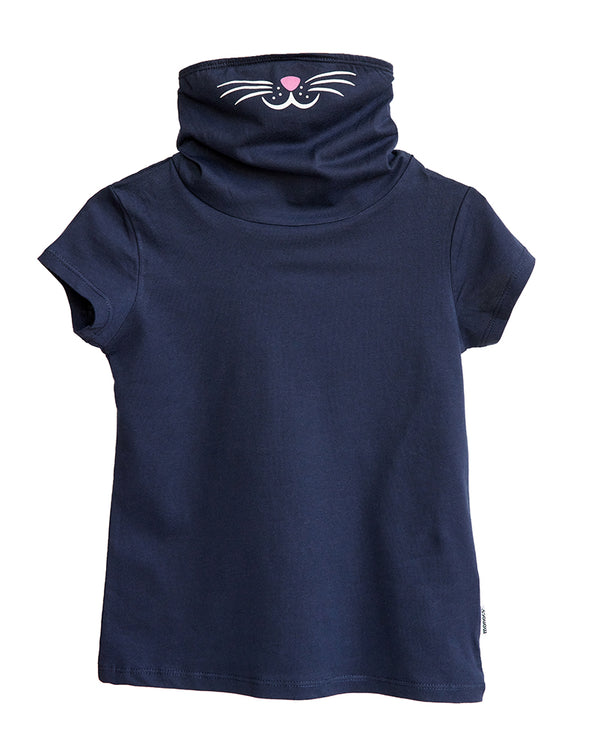 Girls Mask Shirt Cat