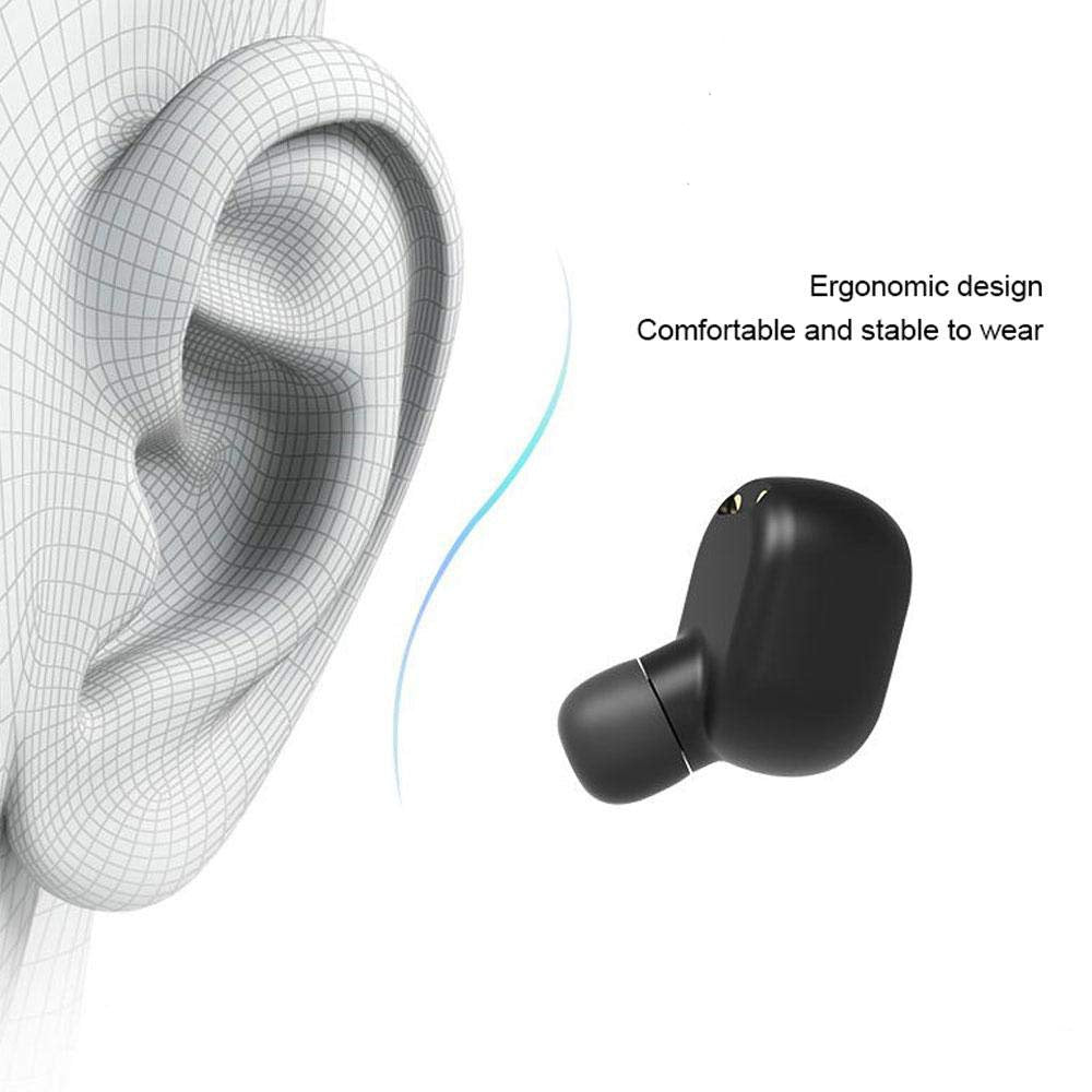 [Wireless Bluetooth 5.0 Earphones LED Power Display Noise Cancelling Gaming Headset] - LED Smart Pods