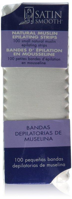 Satin Smooth Small Muslin Epilating Strips 100 pack