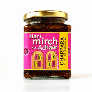 Green Chilli Pickle (Hari Mirch ka Achaar)
