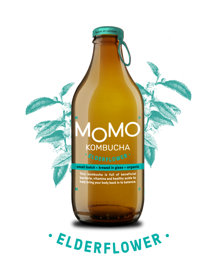 Momo Elderflower Kombucha (330ml bottle) LOCAL DELIVERY ONLY - Guzzl