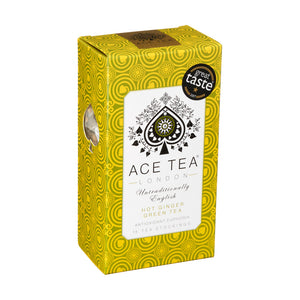 Ace Tea of London: Hot Ginger Green Tea - Guzzl