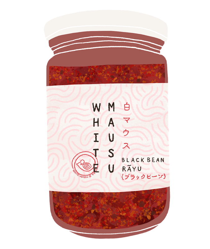 White Mausu Black Bean Rayu - Guzzl