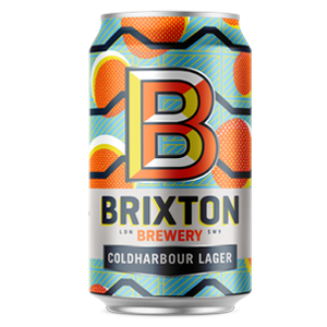 Brixton Brewery Coldharbour Lane Lager - 330ml can - Guzzl