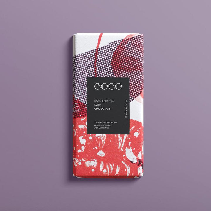 Earl Grey Tea & Bergamot dark chocolate bar (80g) - Guzzl