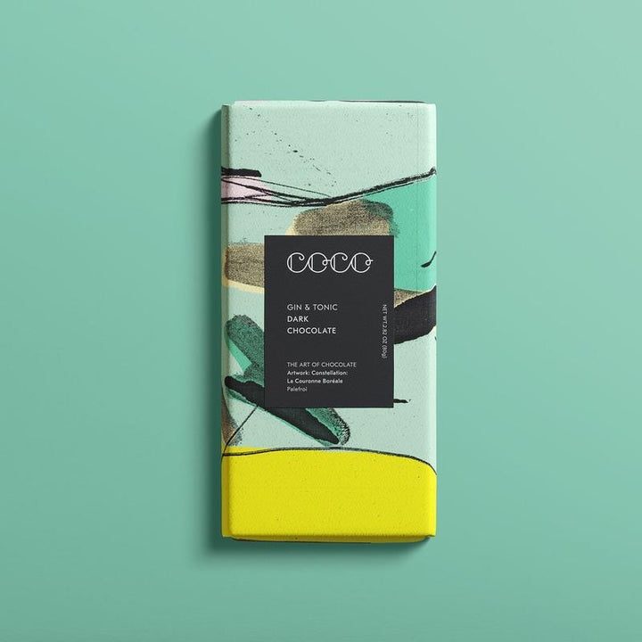 Gin & Tonic dark chocolate bar (80g) - Guzzl