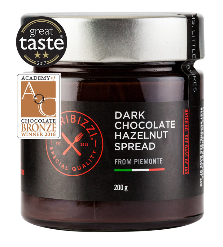 Giribizzi Dark Chocolate Hazelnut spread: 200g - Guzzl