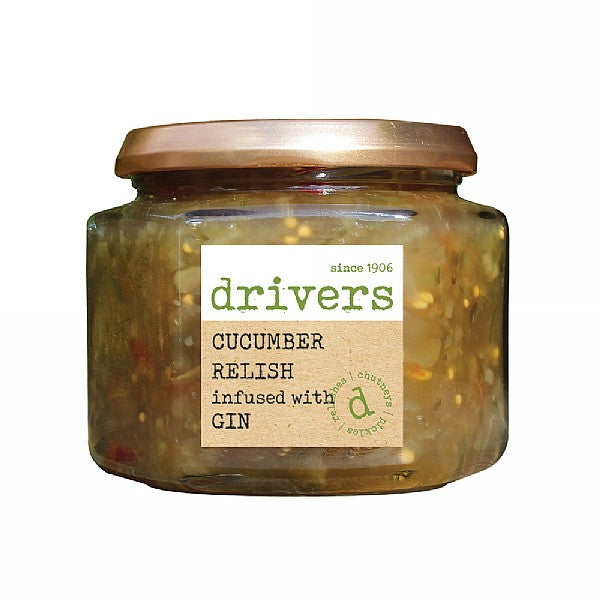 Drivers Cucumber Relish infused with Gin (350g) - Guzzl