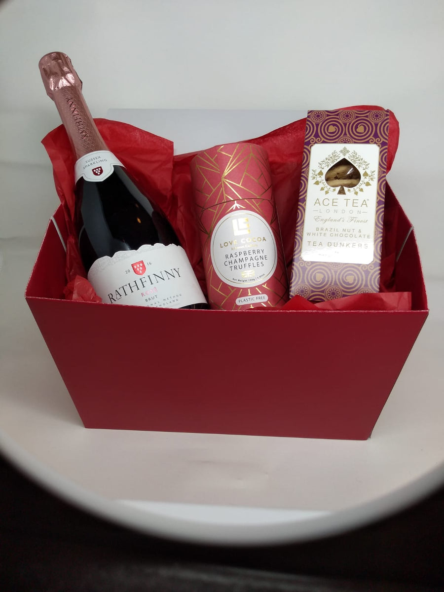 Mother's Day pink fizz and goodies box - Guzzl