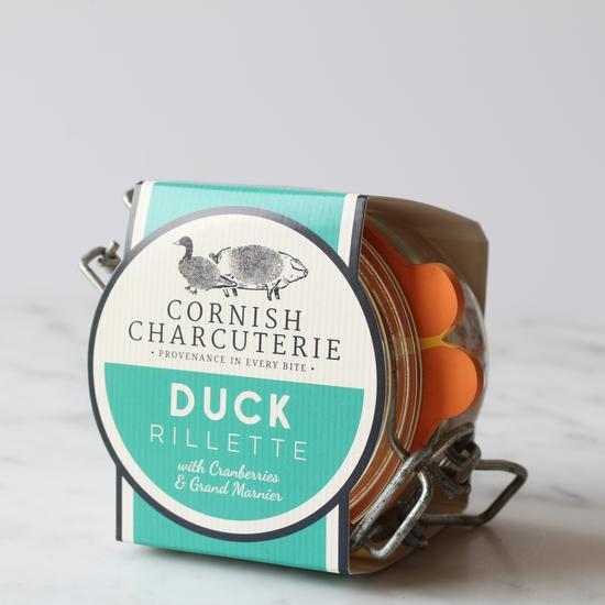Cornish Charcuterie Duck Rillette with Sloe Gin (110g) - Guzzl