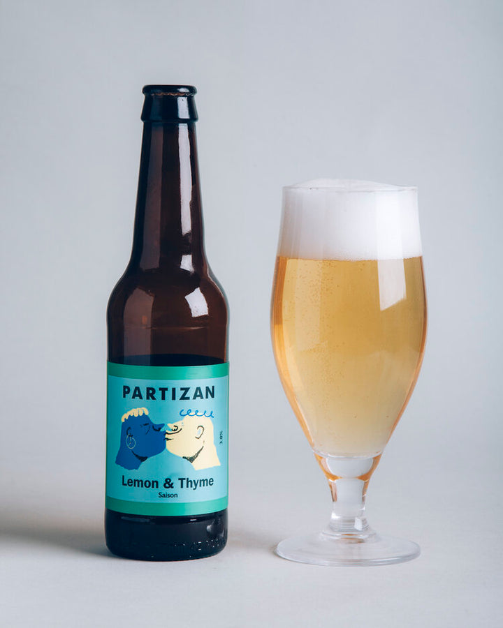 Partizan Brewing Lemon & Thyme Saison: 300ml bottle - Guzzl