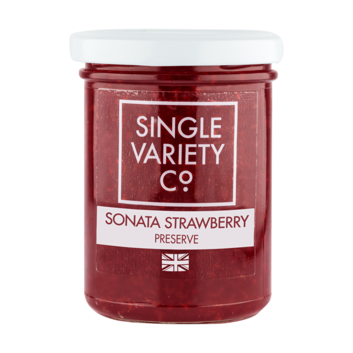 Single Variety Strawberry Preserve: 220g jar. - Guzzl