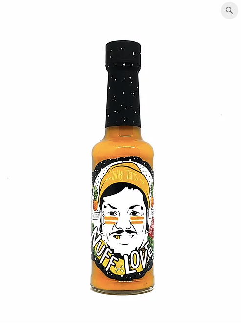 Tubby Tom's Nuff Love chilli sauce: 150ml bottle - Guzzl