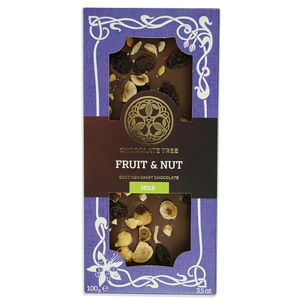 Chocolate Tree Fruit and Nut Milk Chocolate Bar (100g) - Guzzl