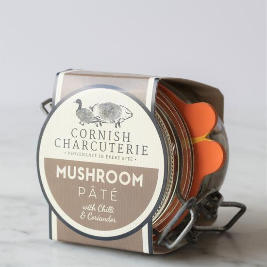 Cornish Charcuterie Mushroom Pâté with chilli and coriander (110g) - Guzzl