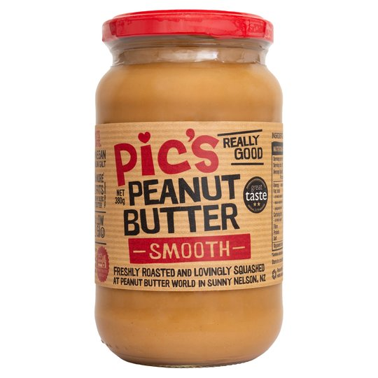 Pics smooth peanut butter (380g jar) - Guzzl