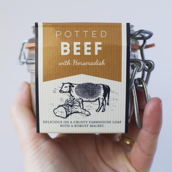 Cornish Charcuterie Potted Beef (110g) - Guzzl