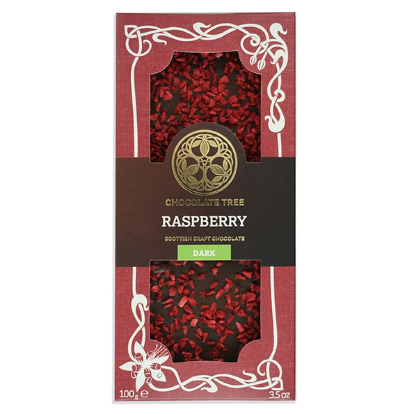 Chocolate Tree Raspberry Dark Chocolate Bar (100g) - Guzzl