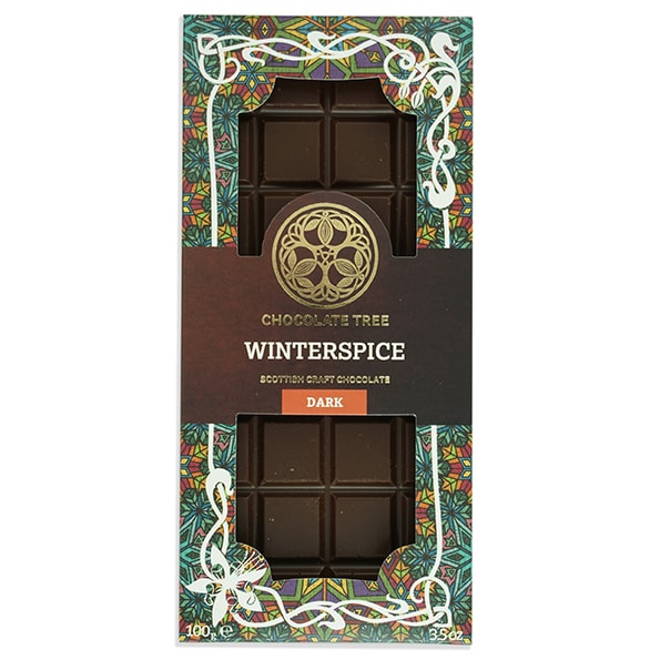 Chocolate Tree Winterspice Dark Chocolate Bar (100g) - Guzzl