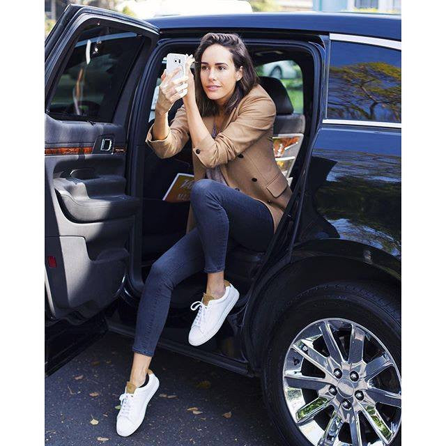 Louise Roe wears Zespa sneakers from BOTTINES