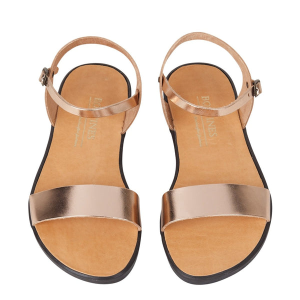 Rose metallic sandals | Hydra