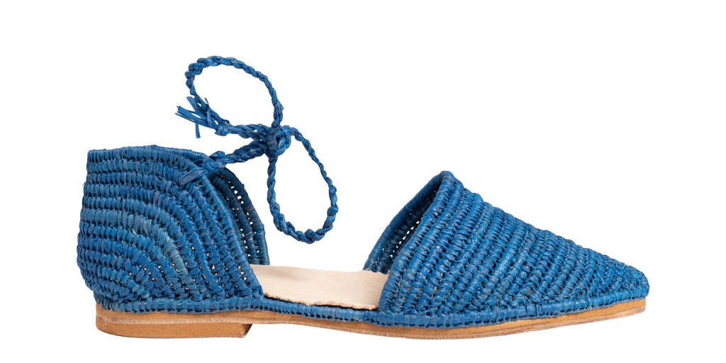 Raffia shoes blue | Eve