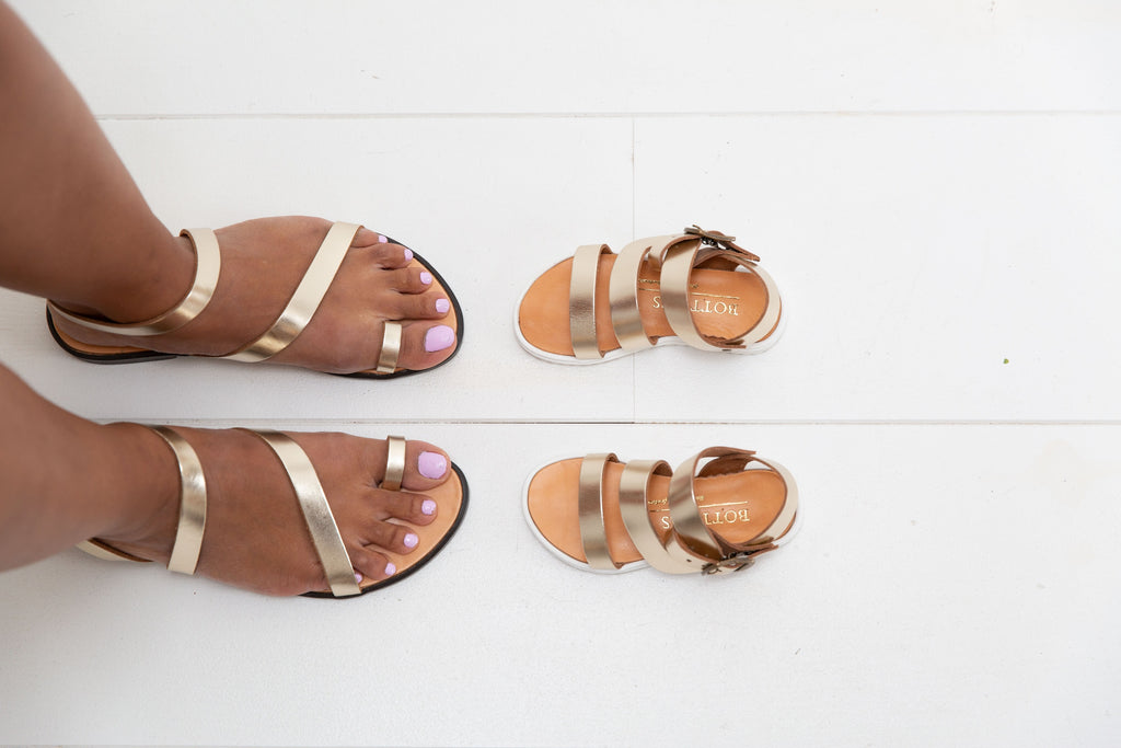 Kids sandals gold | Nora