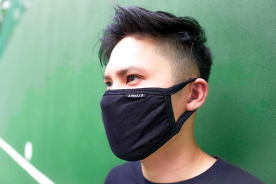 ZREUS PLAIN BLACK MASK