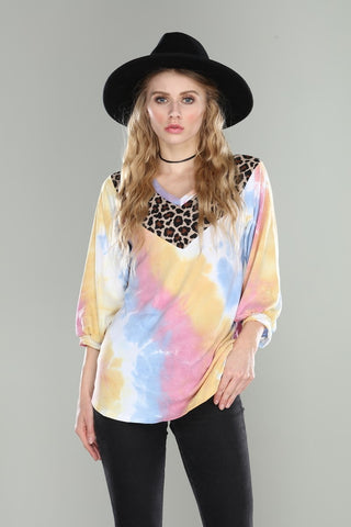 Spring Do Your Thing Top, Pastel Tie Dye
