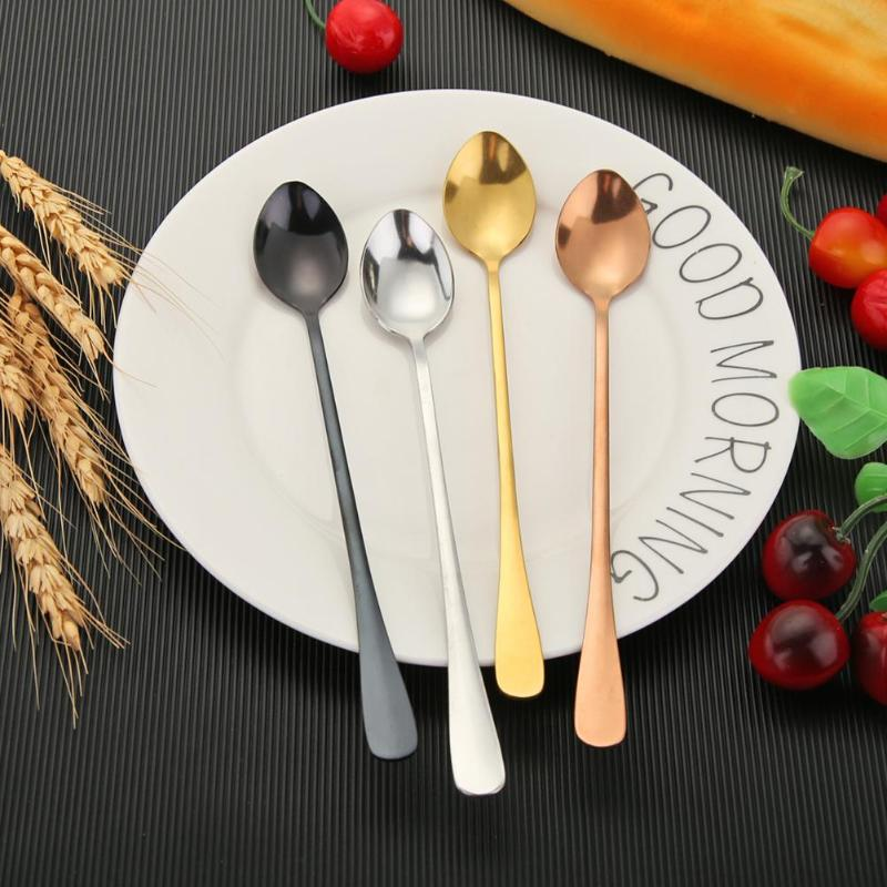 1PC  Long Handle Stainless Steel Spoon For Coffee - Cream and Sugar Coffee House & Brewing Co.
