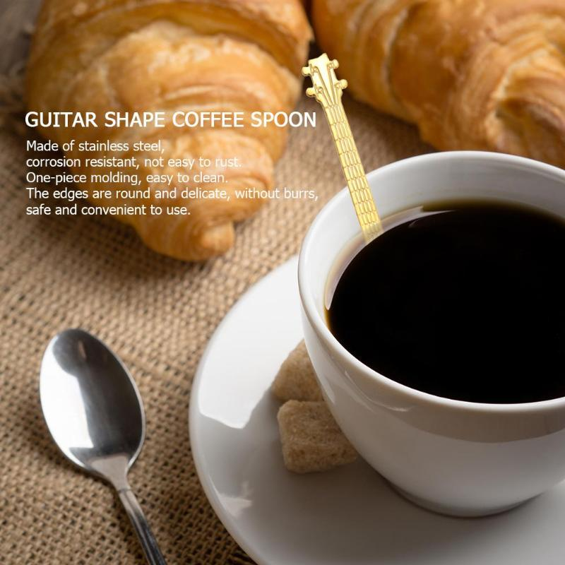 1PC Stainless Steel Guitar Spoon Milk Coffee Spoon - Cream and Sugar Coffee House & Brewing Co.