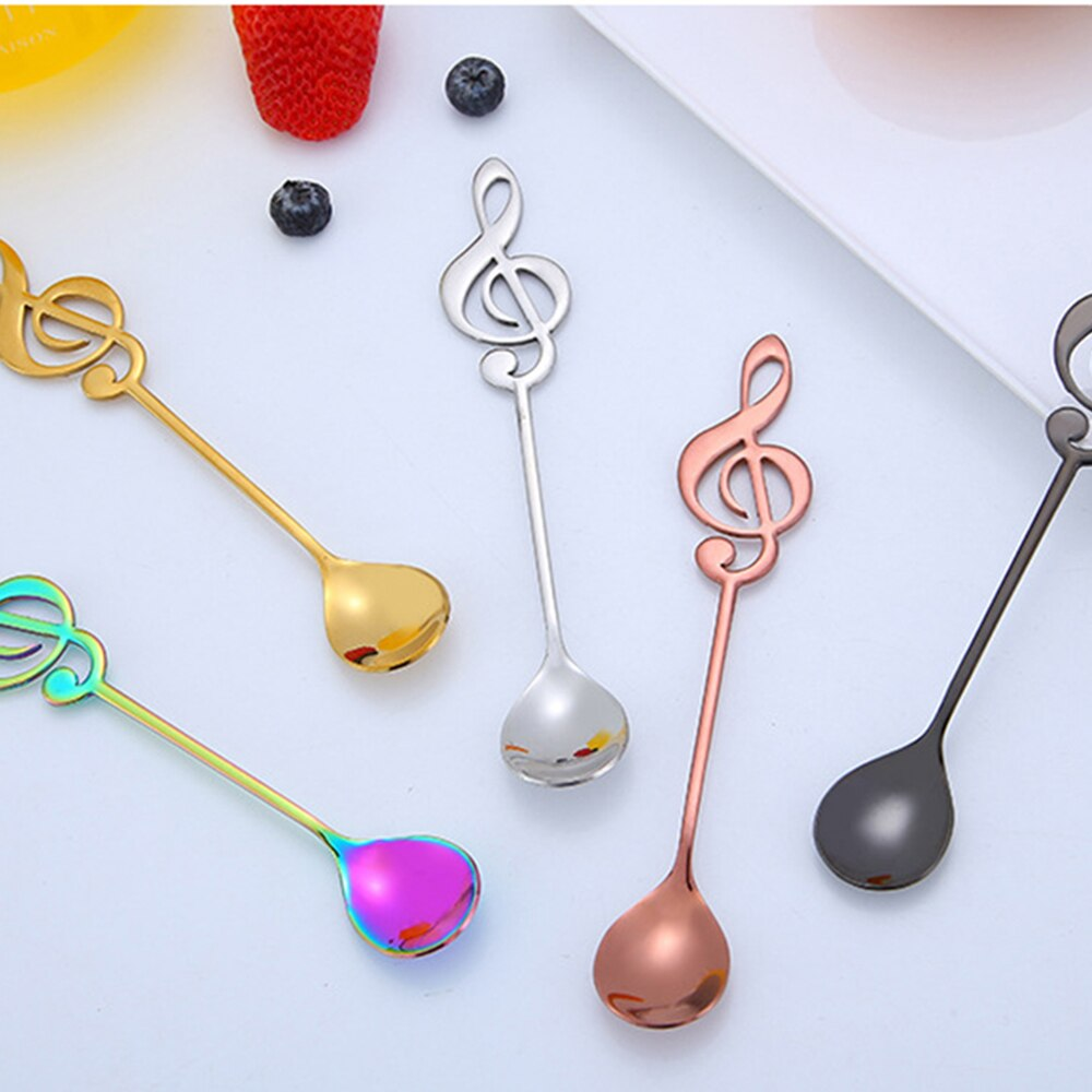 1Pcs 304 Stainless Steel Musical Note Spoon Coffee - Cream and Sugar Coffee House & Brewing Co.