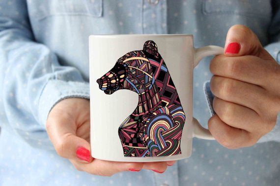 Coffee Mug | Colorful Bear Cup | Funny Coffee - Cream and Sugar Coffee House & Brewing Co.