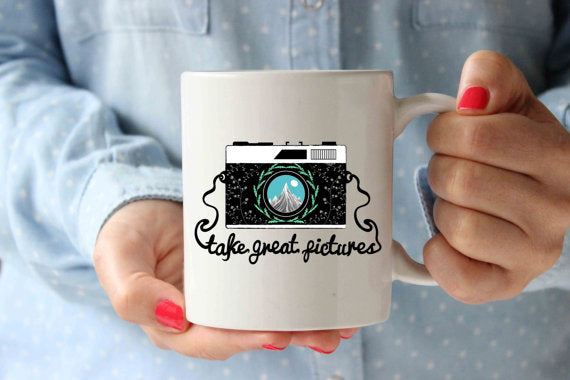 Great Picture Retro Camera Coffee Mug |Funny - Cream and Sugar Coffee House & Brewing Co.