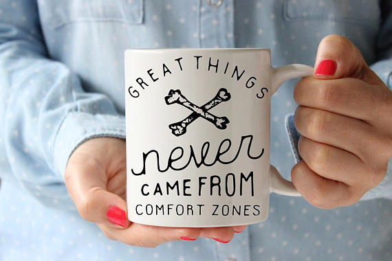 Comfort Zone Mug Coffee Mug Quote Coffee Cup - Cream and Sugar Coffee House & Brewing Co.
