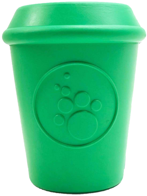 Open image in slideshow, SP Coffee Cup Durable Rubber Chew Toy and Treat Dispenser - Large - - Cream and Sugar Coffee House & Brewing Co.