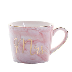 Open image in slideshow, Mr. and Mrs. Marble Ceramic Coffee Mug 380ml - Cream and Sugar Coffee House & Brewing Co.