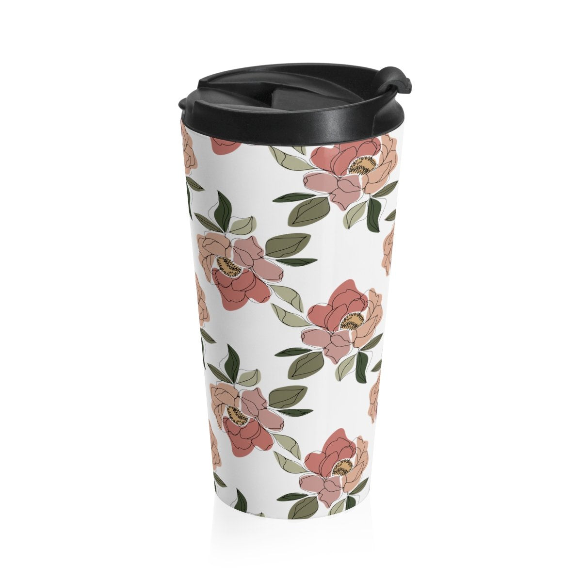 Floral Print Travel Mug - Cream and Sugar Coffee House & Brewing Co.