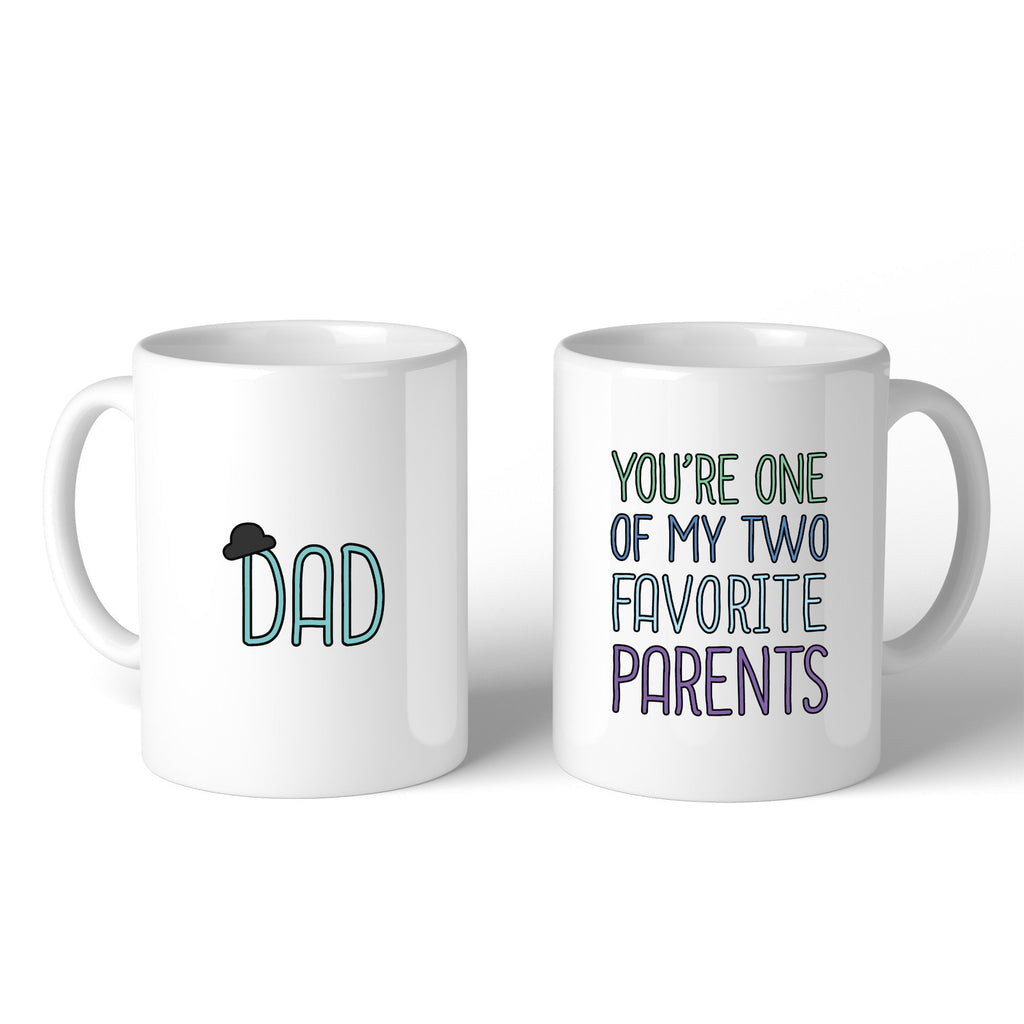 Two Favorite Parents Coffee Mug For Fathers Day - Cream and Sugar Coffee House & Brewing Co.