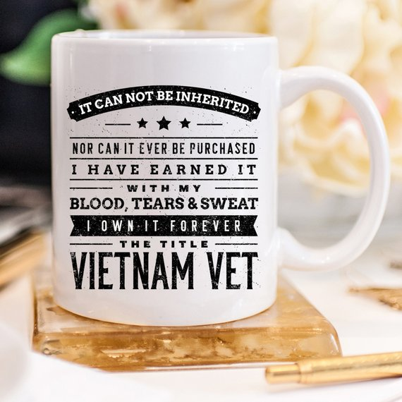 Vietnam Veteran Mug Gift - 11oz Coffee Mug - - Cream and Sugar Coffee House & Brewing Co.