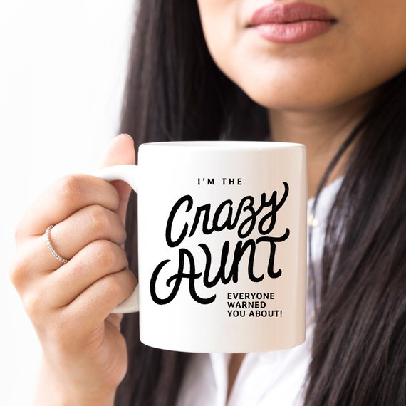 11oz Coffee Mug - I'm The Crazy Aunt Everyone - Cream and Sugar Coffee House & Brewing Co.