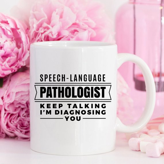 Speech Language Pathologist Coffee Mug - SLP Gifts - Cream and Sugar Coffee House & Brewing Co.