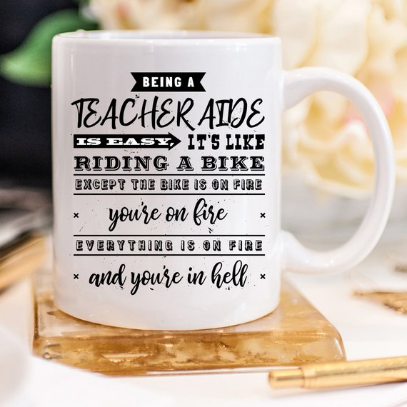 Being A Teacher Aide Is Easy - 11oz Coffee Mug - - Cream and Sugar Coffee House & Brewing Co.