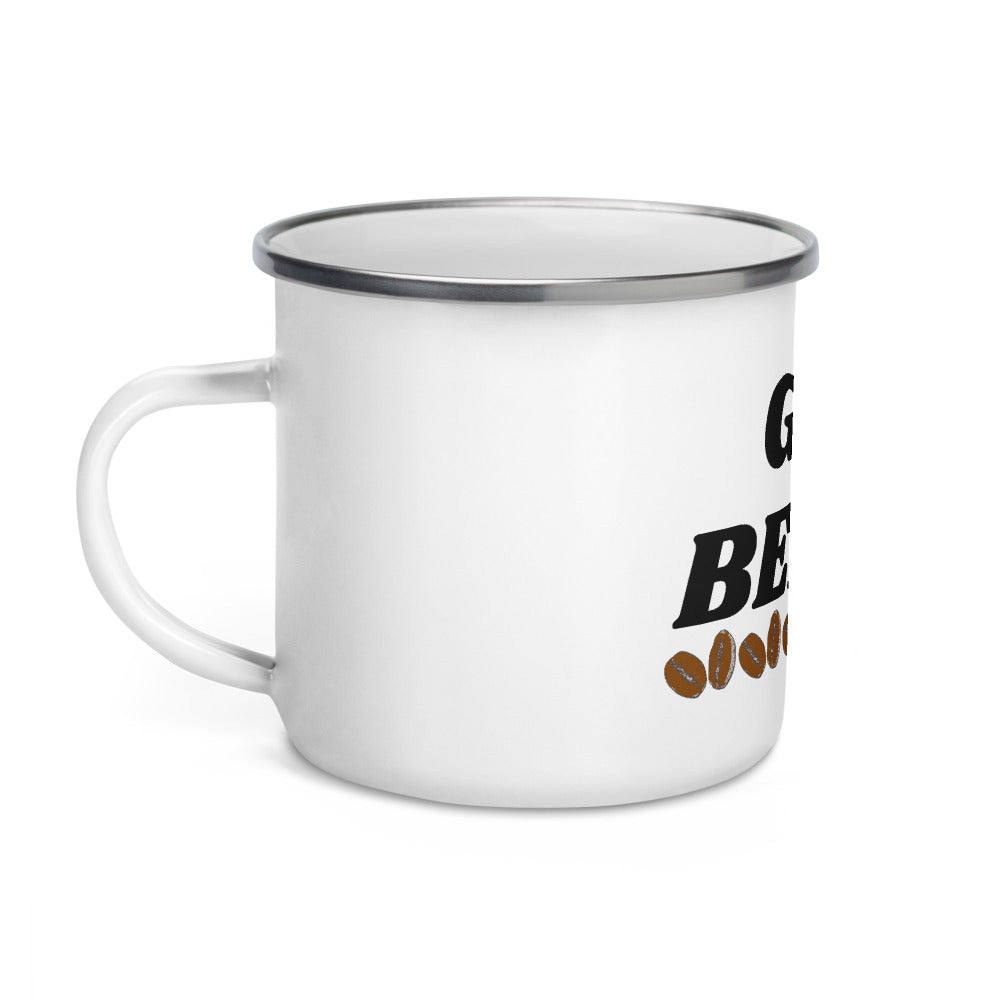 Got Beans Enamel Mug - Cream and Sugar Coffee House & Brewing Co.