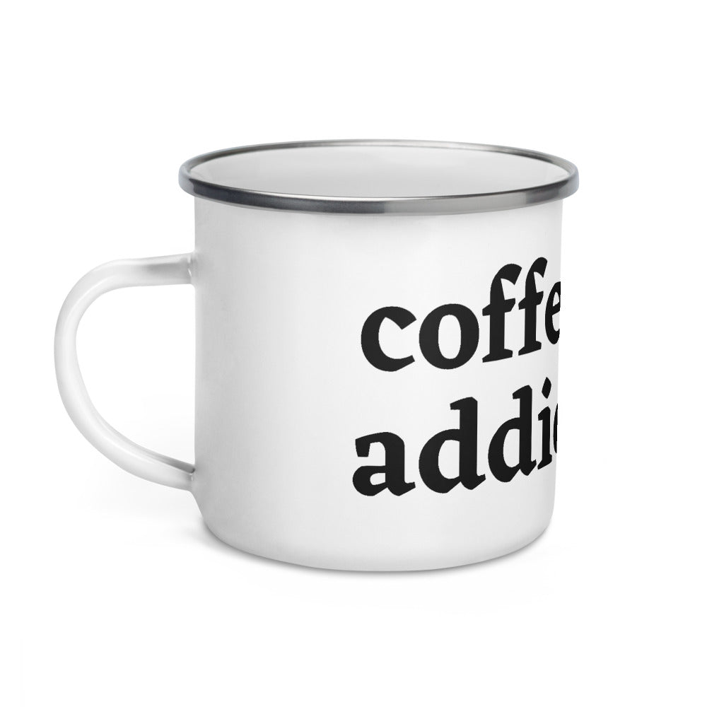 Coffee Addict Enamel Mug - Cream and Sugar Coffee House & Brewing Co.