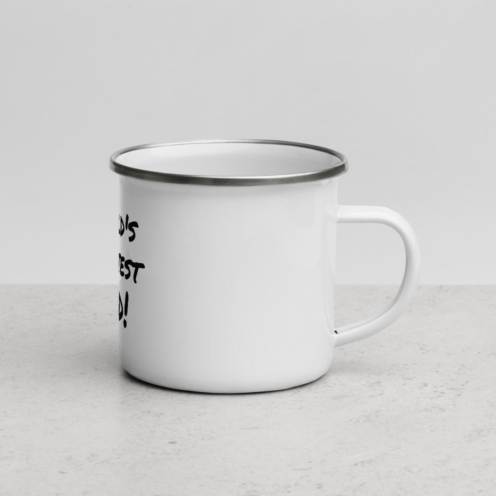 World's Greatest  Dad Enamel Mug