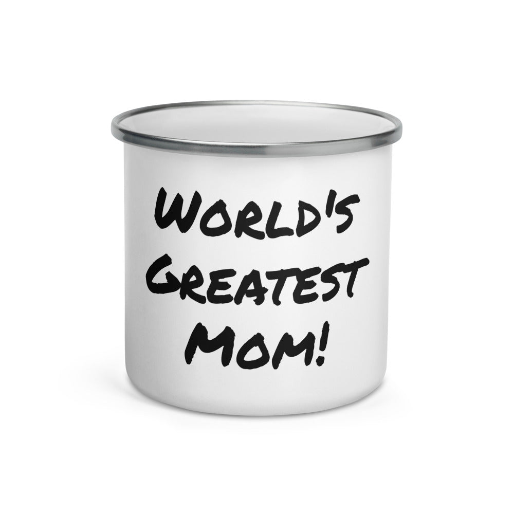 World's Greatest Mom Enamel Mug
