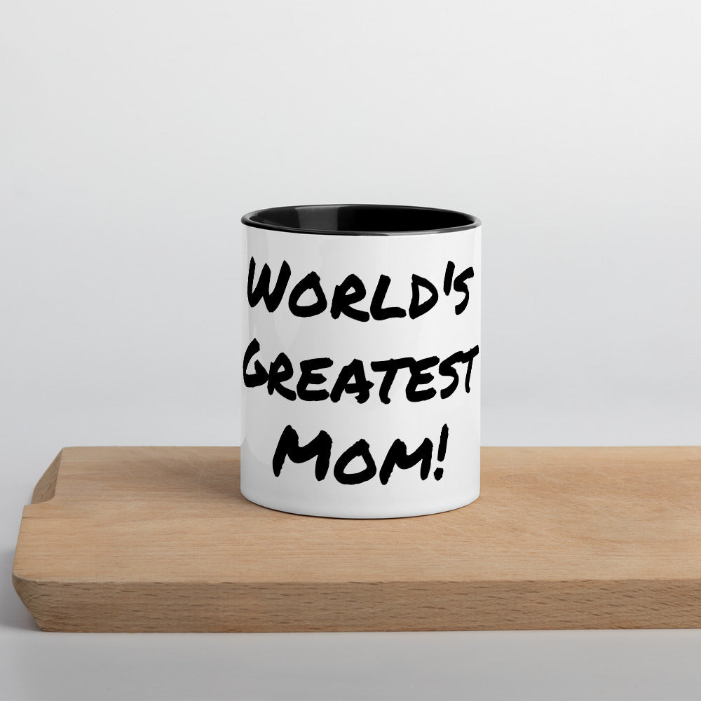 World's Greatest Mom Mug with Color Inside - Cream and Sugar Coffee House & Brewing Co.